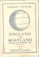 Football Programme ENGLAND - SCOTLAND At WEMBLEY 19th February 1944 - Matt Busby - Programs