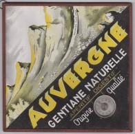 - Sous-Verre Publicitaire - Dimensions 18 X 18 Cms - Auvergne Gentiane Naturelle - Thermomètre En Service - - Other