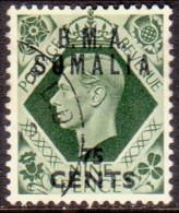 British Occupation Of Italian Colonies Somalia 1948 SG #S17 75c On 9d VF Used - Somalia