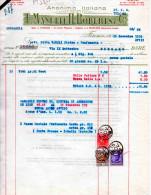 DITTA MANETTI -H.ROBERTS-FIRENZE-15-11-1939-REGNO-MARCA DA BOLLO CENT. 20+TASSA DI BOLLO CENT. 60 +LIRE 3 - Italia