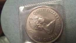 Coin 50 Pence 25 Years Anniversary Coronation Of Queen Elizabeth II (1952-1977) + - Falkland Islands