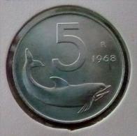 ITALIA-ITALY 5 LIRE 1968 PICK KM92 UNC - 5 Lire