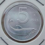 ITALIA-ITALY 5 LIRE 1975 PICK KM92 UNC - 1946-… : Republic
