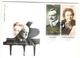 Portugal & FDC Grandes Músicos Do Mundo, Jean Sibelius E Elisabeth  Schwarzkopf 2015 - Altri