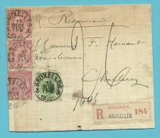45+46 Op Brief Aangetekend Met Stempel BRUXELLES 3 - 1884-1891 Leopold II