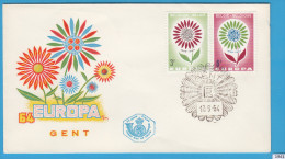 BELGIUM 1964; FDC; Mi: 1358, 1359; Europa CEPT, Flower With 22 Petals For Each 1964 Member - Europa-CEPT