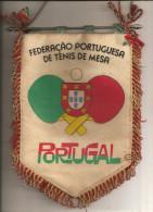 Portugal - Antigo Galhardete Da Federação Portuguesa De Ténis De Mesa. Table Tennis. Tennis De Table. Pennant. Fanion. - Tischtennis