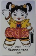 MYANMAR - URMET - MPT - Visit Myanmar Year 1996 - 200 Units - Mint