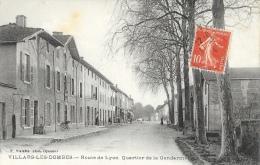 Villars-les-Dombes (Ain) - Route De Lyon - Quartier De La Gendarmerie - Edition Vialatte - Villars-les-Dombes