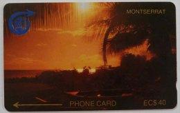 MONTSERRAT - GPT - 1st Issue - Sunset - 2CMTD - $40 - 1500ex - MON 2D - Used