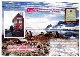 Z] Entier Postal Postal Stationery Roumanie Romania Pingouin Manchot Penguin Polaire Polar - Polar Philately