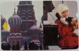 RUSSIA / USSR - Alcatel - Magnetic - R3 - Field Trial / Test - B - Kremlin - Girl In Telephone Booth - Bell Tel - 3335ex - Russie