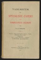 Vade-mecum du sp�cialiste expert en timbres-poste d'Europe par Serrane 1927