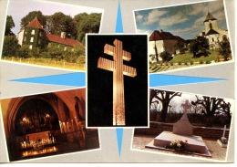 Colombey Les Deux églises Multivues : Mémorial De Gaulle Recueillement églises Tombe Boisserie - Colombey Les Deux Eglises