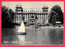 [DC5456] CARTOLINA - TORINO - CASTELLO DEL VALENTINO - BARCHE A VELA - FIUME PO - Non Viaggiata - Old Postcard - Castello Del Valentino