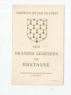 Chromo , Image , Chemins De Fer De L'ETAT , Les Grandes Légendes De BRETAGNE , Le Pêcheur Et La Sirène , 2 Scans - Old Paper