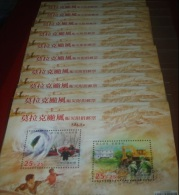 X10 Taiwan 2009 Typhoon Morakot Semi -Stamps S/s Map Geology Lifeboat Flood Disaster Excavator Love Soldier Unusual - Collections, Lots & Series