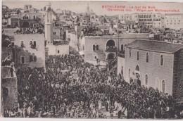 ASIE,ASIA,ORIENT,ISRAEL,PALESTINE EN 1910,tampon,BETHLEHEM,CIS JORDANIE,JERUSALEM,Péleri Nage,chrétien,NOEL,prière ,rare - Israel