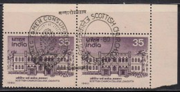 India MNH 1980,  First Day Postmark On Mint Pair, Scottish Church College, Education , Monument - Inde
