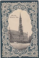 BELGIQUE,BELGIUM,BELGIE,BELGICA,BRUXELLES EN 1911,hotel De Ville,chef D´oeuvre Du 15ème Siècle,gothique,rare - Monumenti, Edifici