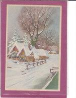 Dessins De 11 Cartes  Paysages D' Hiver - Cartes Postales