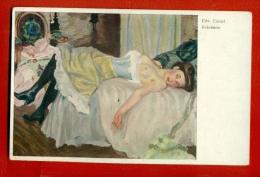 SEMI NUDE WOMAN BY EDWARD CUCUEL VINTAGE POSTCARD W2549 - Künstlerkarten