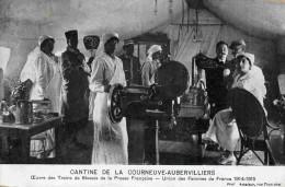 Courneuve Aubervilliers-oeuvre Des Trains De Bléssés-infirmières - Gros Plan Animé -a Voyagé En 1918 - Guerra 1914-18
