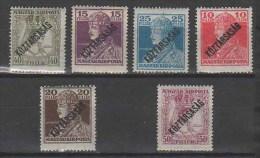 HUNGARY 1918 PEOPLE History CHARLES & ZITA (overprints) - Fine Set MNH - Ungebraucht