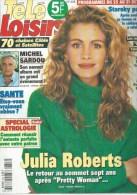 "TELE LOISIRS  N° 608  "" MICHEL SARDOU / JULIA ROBERTS  "" -   OCTOBRE  1997 - Television"