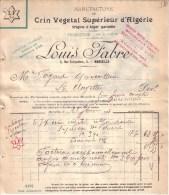 BOUCHES DU RHÔNE - MARSEILLE - CRIN VEGETAL D´ALGERIE - LOUIS FABRE - 1908 - France