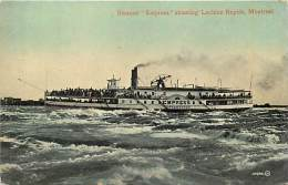"Ref F 634 - Canada - Steamer "" Empress "" Shooting Lachine Rapids - Montreal - Bateau - Theme Bateaux -  Carte Bon Etat - - Canada"