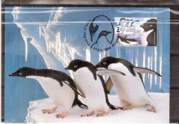 2 CM Australian Antartic Territory - Pingouins Adélie Et Empereur (à Voir) - Pingouins & Manchots
