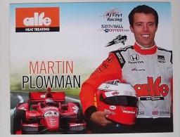MARTIN PLOWMAN  INDYCAR 2014  AJ FOYT RACING - Automobile - F1