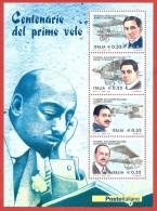 ITALIA REPUBBLICA FOGLIETTO MNH - 2003 - Pionieri Dell'aviazione Italiana - € 0,52 X 4 - S. BF37 - Blocchi & Foglietti