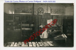 Librairie-Buchhandlung-Vente De Cartes-Journaux-NON SITUEE-CARTE PHOTO Allemande-GUERRE 14-18-1 WK-FRANCE- - Oorlog 1914-18