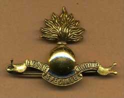 Insigne De Béret ESM  -  Ecole Spéciale Militaire - St Cyr - Armée De Terre