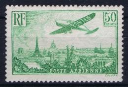 France: Aérienne  Yv Nr 14  MH/* Very Light Hinge, Tres Petit Ch. - Airmail