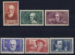 France: 1938 Yv Nr 380 - 385 MNH/** Sans  Ch. - Unused Stamps