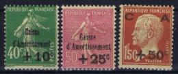 France: 1929 Yv Nr 253 - 255   MH/*  Avec Ch - France
