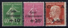 France: 1929 Yv Nr 253 - 255 MNH/**  Sans Ch. - France