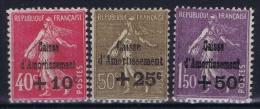 France: 1930 Yv Nr 266 - 268  MNH/* Sans Ch. - France