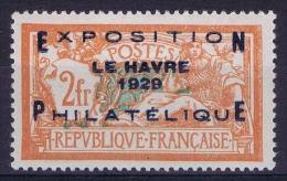 France: 1929 Yv Nr 257A, Exposition Du Havre De 1929 MH/* Avec Ch. Bon Centrage - France