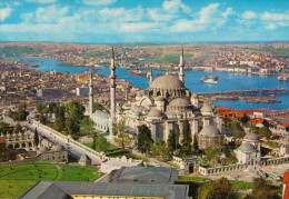 ISTAMBUL   SAHESERLERI   THE MOSQUE OF SOLIMAN THE MAGNIFICENT AND THE GOLDEN HORN (VIAGGIATA) - Turchia