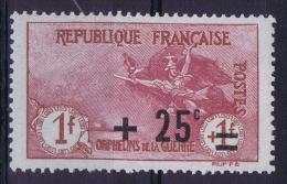 France: 1922 Yv Nr  168 MH/* Avec Ch. - France