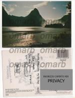 Car1266 New Zealand Milford Sound Fiordland Nationalpark UNESCO Paesaggio Controluce Mitre Peak Reflex Water Tiki - Nuova Zelanda
