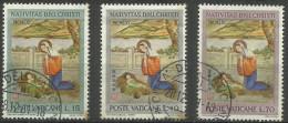Vatican - 1961 Christmas Set Of 3 Used  SG 365-7  Sc 323-5 - Oblitérés