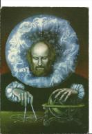 Astronomie : Illustrateur Valentin Tanase Astrologue Et Son Compas Devin - Cpm Carte De Voeux Pour L'an 2000 Bucarest - Astronomia