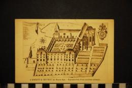 CP, 19, MEYMAC L'Abbaye De MEYMAC Au Moyen âge Reproduction D'une Ancienne Estampe Voyagée - Other Municipalities