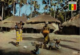 REPUBLIQUE DU SENEGAL  CASAMANCE: VILLAGE DE BASSE-CASAMANCE    (VIAGGIATA) - Senegal