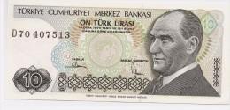 Turkey 10 Lirasi 1982 Unc - Turquie